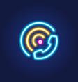 phone signal simple luminous neon outline vector image