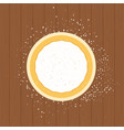 pizza dough on a wooden surface flat isolated vector image