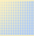 pop art background blue color turns into yellow vector image vector image