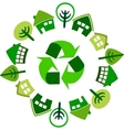 recycle circle of houses vector image