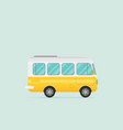 retro bus flat vector image