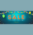 sale festive banner with streamers vector image vector image