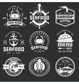 Seafood Monochrome Emblems vector image