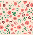 seamless pattern with floral elements image vector image vector image