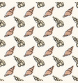 seamless sea life pattern in sepia color vector image vector image