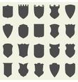 Set blank empty dark shields shield badge