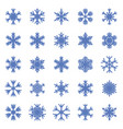 set of different winter snowflakes vector image vector image