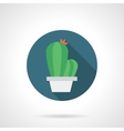 Simple cacti pot flat color icon vector image