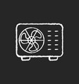 split air conditioner chalk white icon on black vector image vector image