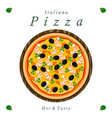 the food pizza vector image vector image