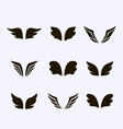wings icon set birds and angel vector image vector image