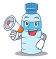 with megaphone bottle character cartoon style vector image