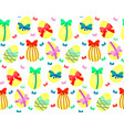 easter eggs with bows vector image