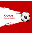 Football or soccer design poster with grunge vector image