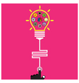 Infographic template creative light bulb vector image