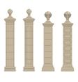 set of column 3 vector image