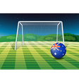 A soccer ball from Australia vector image vector image