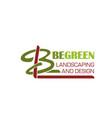 b letter icon for landscape design vector image