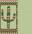 background pattern with cactus Use as backdrop vector image