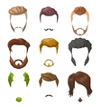 Beards mustaches and hairstyles set