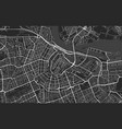 black and white modern city map amsterdam vector image vector image