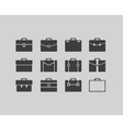 black briefcase icons set background vector image vector image