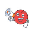bowling ball character cartoon with megaphone vector image vector image