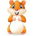 cartoon smiling hamster vector image vector image