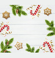 christmas frame template vector image