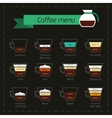 Coffee menu decorative icons vector image vector image