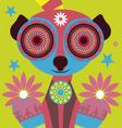 color lemur vector image