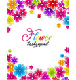 colorful floral background vector image vector image