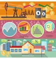 Concept of Real Estate Price Oil and Shares vector image vector image