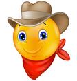Cowboy smiley emoticon vector image vector image