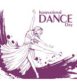 dance day contemporary dance vector image vector image