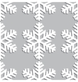 Decorative abstract snowflake Seamless vector image vector image