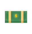 dollar pack icon flat style vector image