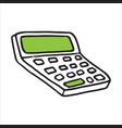 doodle icon calculator vector image vector image