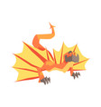 dragon mythical and fantastic animal vector image vector image