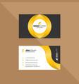 elegant black and gold business card vector image