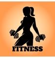 Fitness Woman Emblem vector image vector image