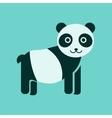 flat icon stylish background Panda bear vector image vector image