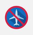 flight ban icon travel ban vector image