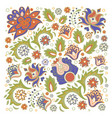 floral ornament oriental decorative folk ethnic vector image