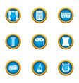 forehead icons set flat style vector image vector image