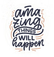 funny hand drawn lettering quote cool phrase vector image vector image