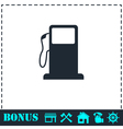 Gas station icon flat