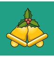 gold bells christmas icon vector image vector image