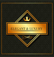 golden elegant and luxury banner crown emblem vector image