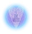 Graphic winter heart vector image vector image